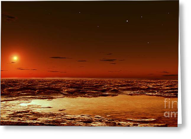 Spring Arrives Near The Martian Polar Greeting Card by Frank Hettick