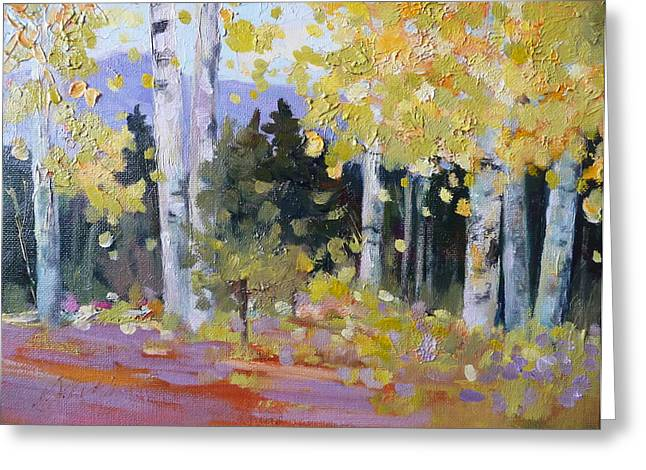 Spring Aspen In Colorado Greeting Card by Xx X