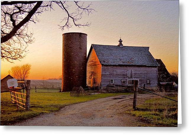 Spring At Birch Barn Greeting Card