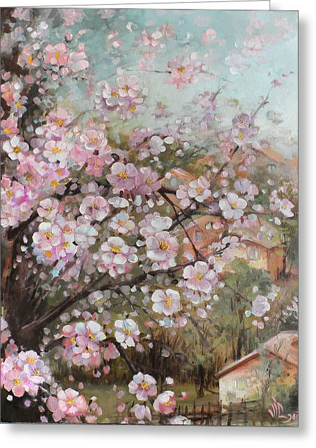 Spring At Country Side Greeting Card