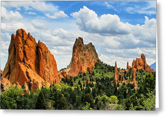 Spring At Garden Of The Gods Greeting Card by Juli Ellen