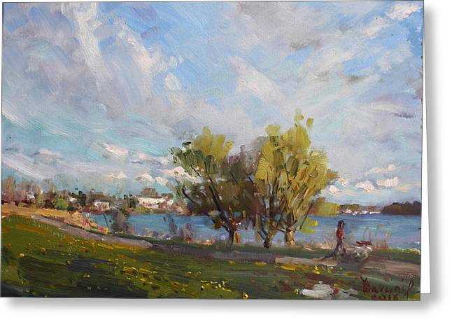 Spring At Gratwick Waterfront Park Greeting Card by Ylli Haruni