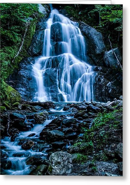 Spring At Moss Glen Falls Greeting Card