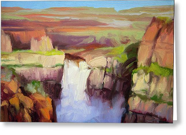 Spring At Palouse Falls Greeting Card