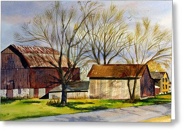 Spring At The Farm Greeting Card by Tina Storey