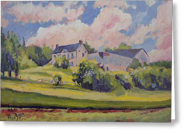 Spring At The Hoeve Zonneberg Maastricht Greeting Card by Nop Briex
