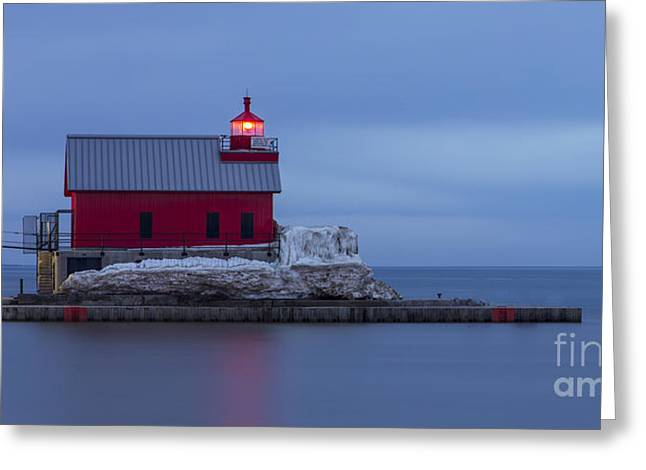 Spring At The Outer Range Light Greeting Card