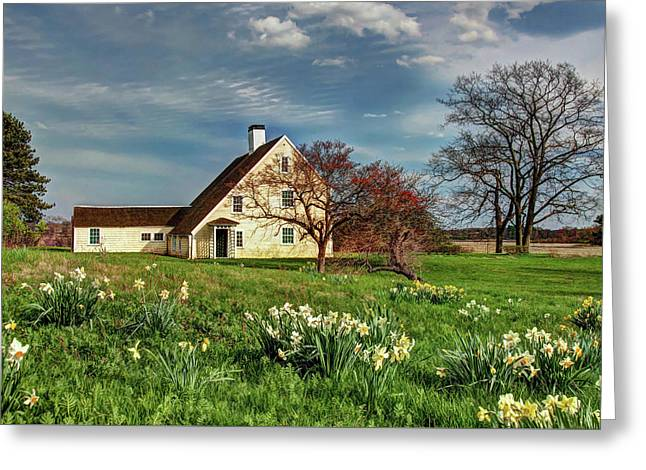 Spring At The Paine House Greeting Card