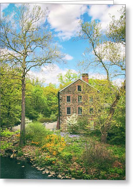 Spring At The Stone Mill  Greeting Card by Jessica Jenney