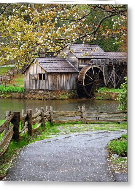 Water Mill Greeting Cards - Spring at the Water Mill Greeting Card by Darren Fisher