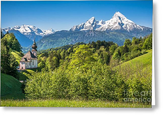 Spring Awakening In The Alps Greeting Card