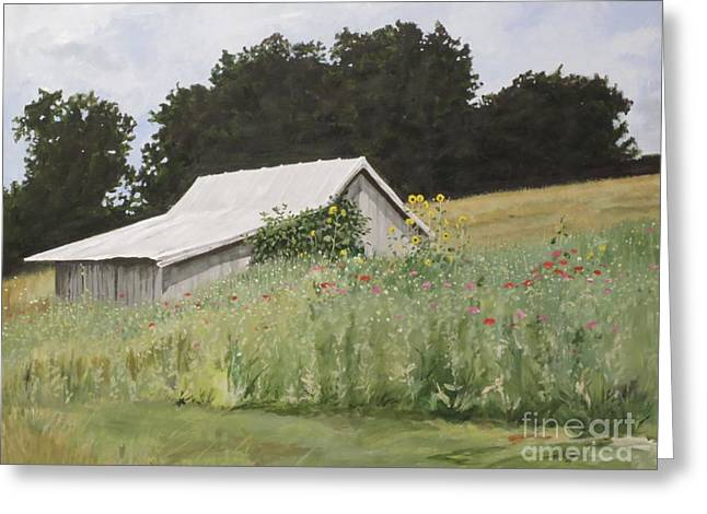 Enveloped By Wildflowers Greeting Card by Carla Dabney