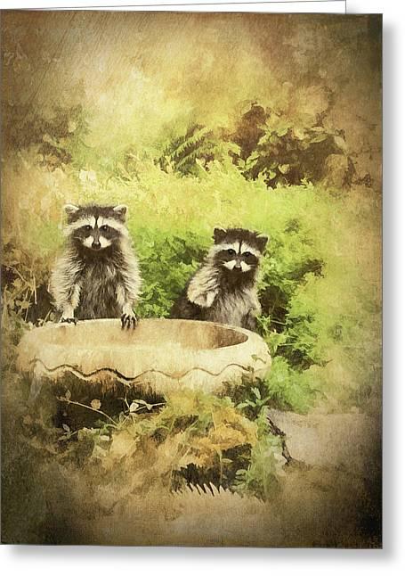 Spring Bath Greeting Card