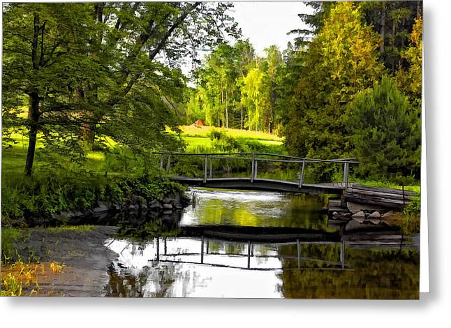 Stream Digital Greeting Cards - Spring Becomes the Summer Greeting Card by Steve Harrington