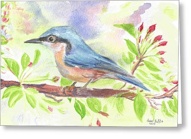 Spring Bird  Greeting Card by Isabel Proffit