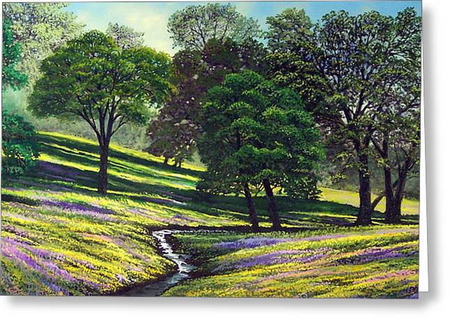 Spring Bloom Table Mountain Greeting Card by Frank Wilson