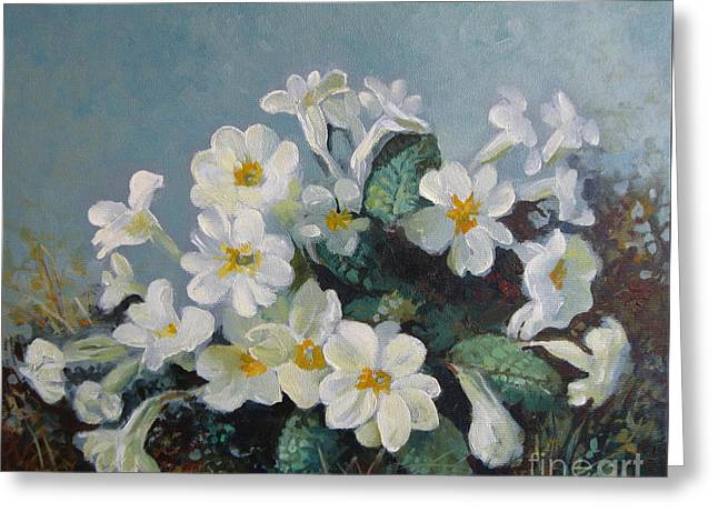 Spring Blooms Greeting Card by Elena Oleniuc