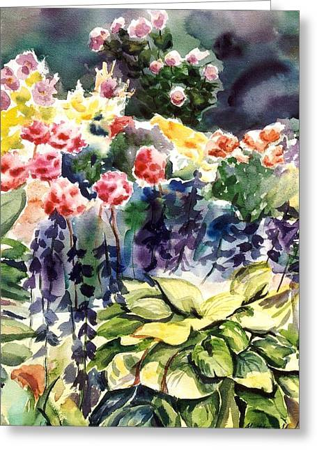 Spring Blooms Greeting Card by Heather Kertzer