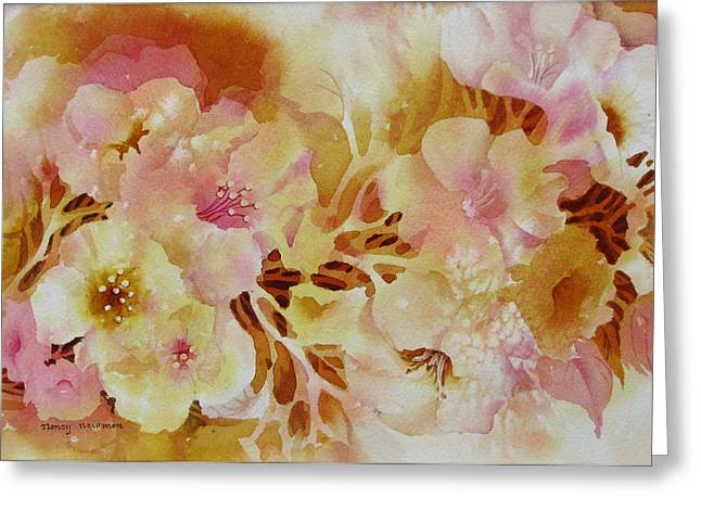 Spring-blooms Greeting Card by Nancy Newman