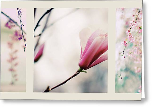 Greeting Card featuring the photograph Spring Blossom Triptych by Jessica Jenney
