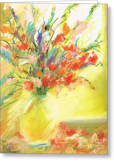 Spring Bouquet Greeting Card by Frances Marino