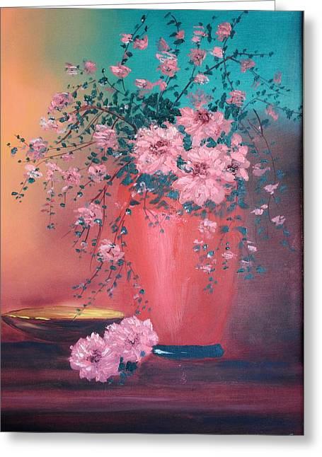 James Higgins Greeting Cards - Spring Bouquet Greeting Card by James Higgins