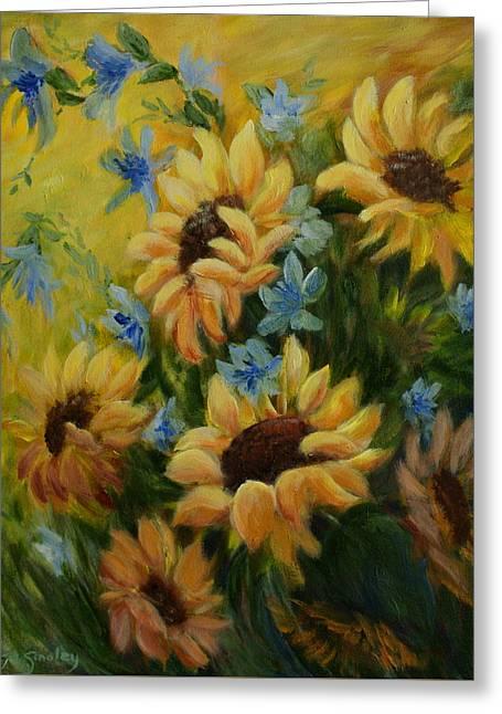 Sunflowers Galore Greeting Card