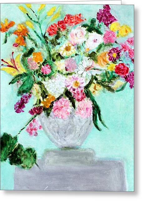 Spring Bouquet Greeting Card by Michela Akers