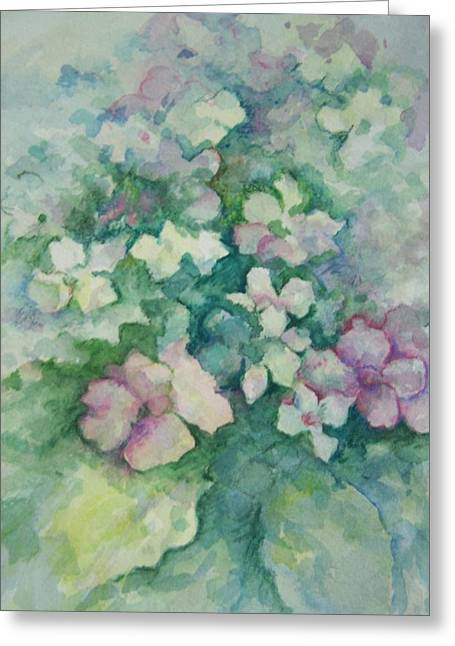 Spring Bouquet Greeting Card by Sandy Collier