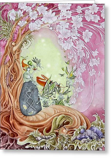 Spring Break Faeries Greeting Card by Ora  Moon