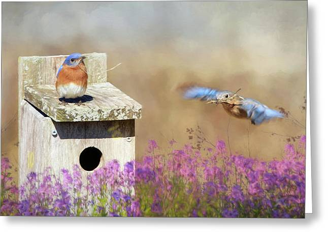 Greeting Card featuring the photograph Spring Builders by Lori Deiter