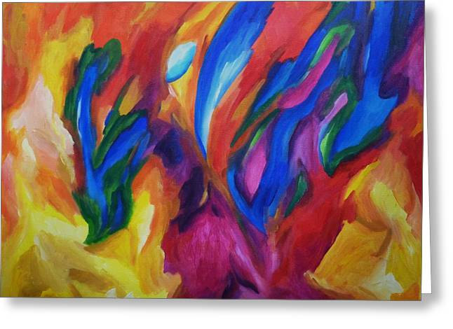 Greeting Card featuring the painting Spring Bursts by Dianne  Connolly