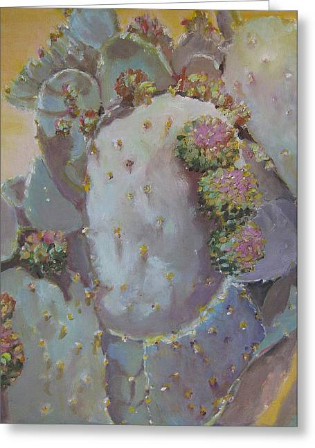 Spring Cactus Fruit Greeting Card by Julie Todd-Cundiff