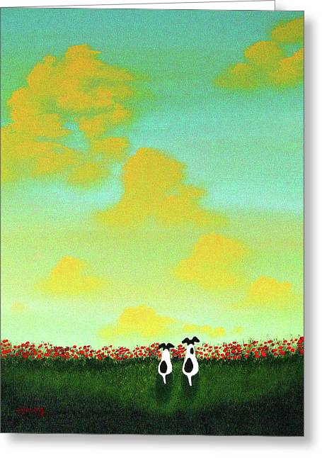 Spring Clouds Greeting Card by Todd Young