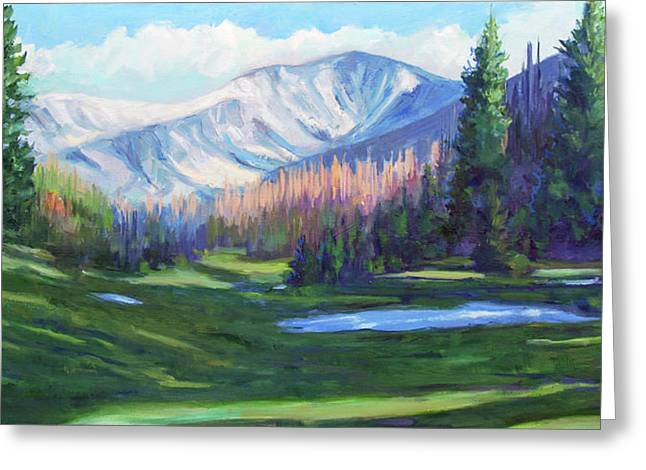 Spring Colors In The Rockies Greeting Card by Billie Colson