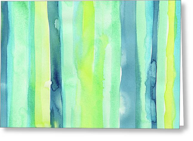 Spring Colors Stripes Pattern Vertical Greeting Card