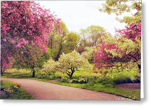 Spring Crescendo Greeting Card by Jessica Jenney