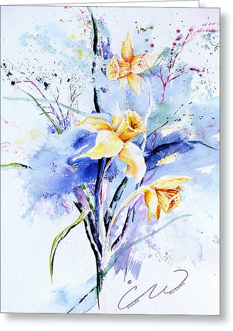 Spring Daffidolds Greeting Card