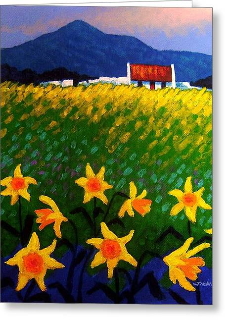 Loaves Greeting Cards - Spring Daffs  Sugar Loaf County Wicklow Greeting Card by John  Nolan