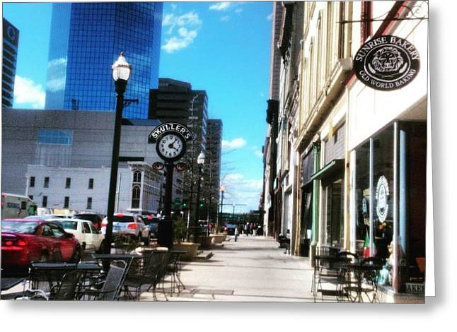 Greeting Card featuring the photograph Spring Day In Downtown Lexington, Ky by Rachel Maynard
