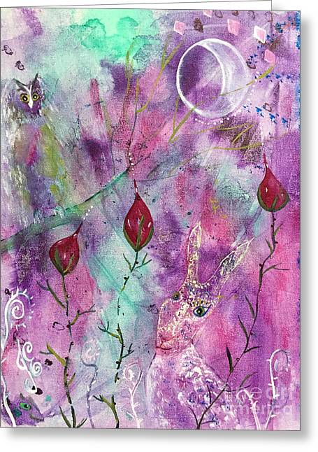 Greeting Card featuring the painting Spring Dream by Julie Engelhardt