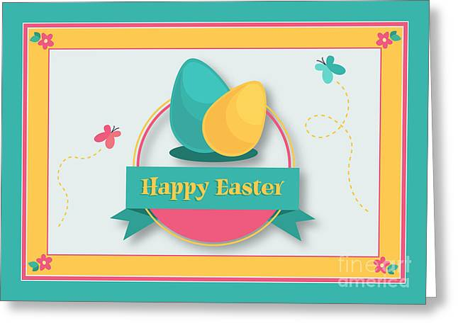 Greeting Card featuring the digital art Spring Easter by JH Designs