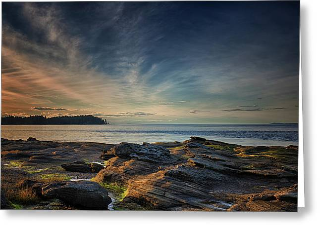 Spring Evening At Madrona Greeting Card by Randy Hall