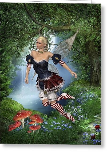 Spring Fae 5 Greeting Card by David Griffith