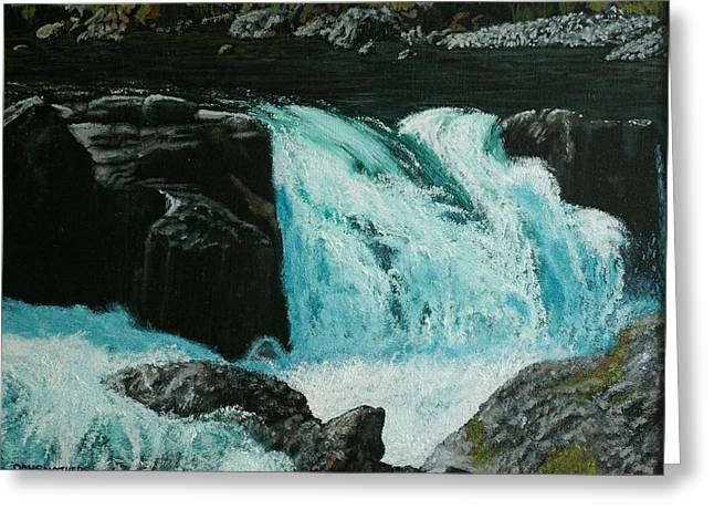 Spring Falls Greeting Card by Ron Smothers
