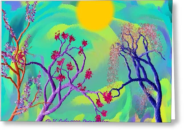 Spring Fantasy Greeting Card by Dr Loifer Vladimir
