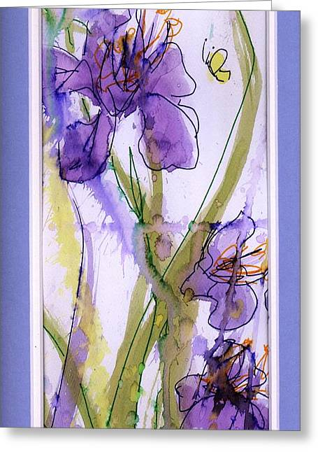 Greeting Card featuring the painting Spring Fling by P J Lewis