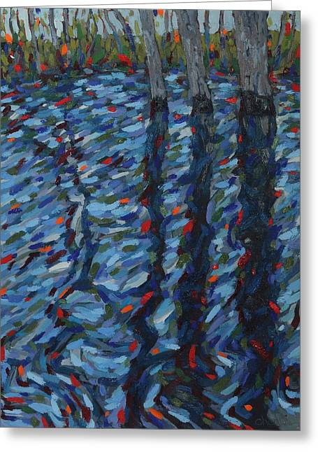 Spring Flood Reflections Greeting Card