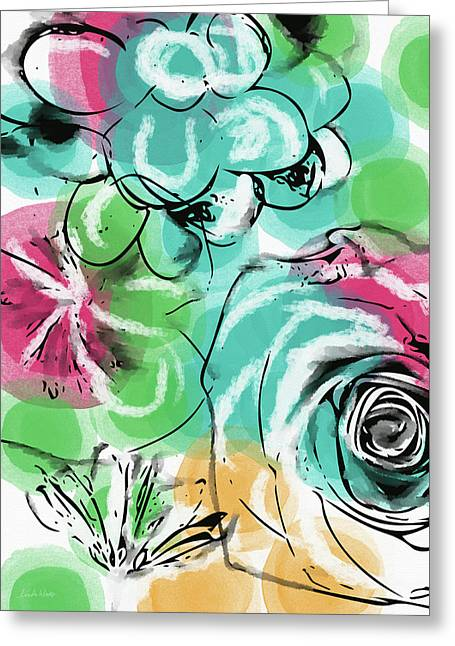 Greeting Card featuring the mixed media Spring Floral 9- Art By Linda Woods by Linda Woods
