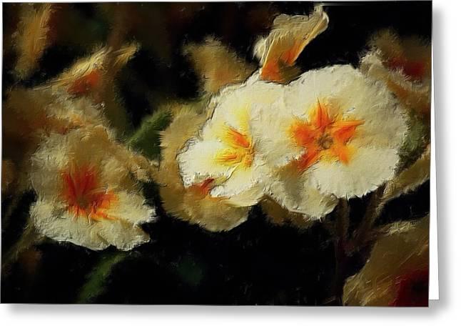 Spring Floral Greeting Card by David Lane